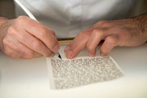 תהליך כתיבת המזוזה